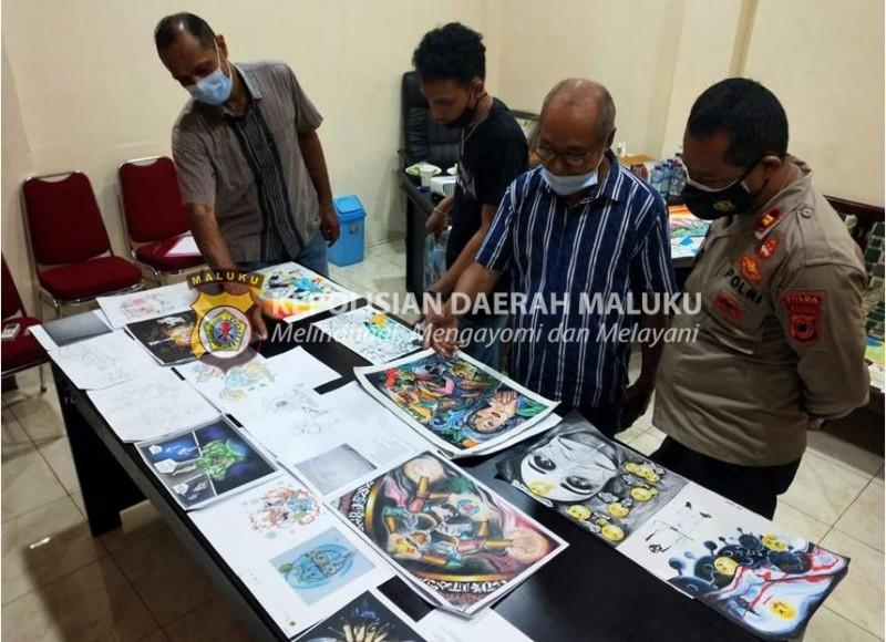 Seleksi Awal Sketsa Festival Mural Bhayangkara Polda Maluku Dimulai