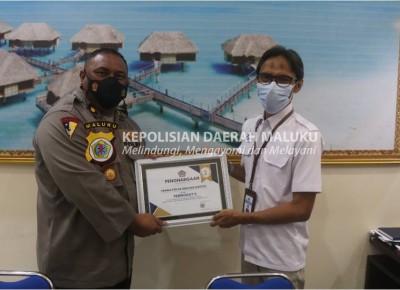 Kelola Anggaran Belanja Terbaik, Yanma Polda Maluku Dapat Penghargaan dari KPPN Ambon